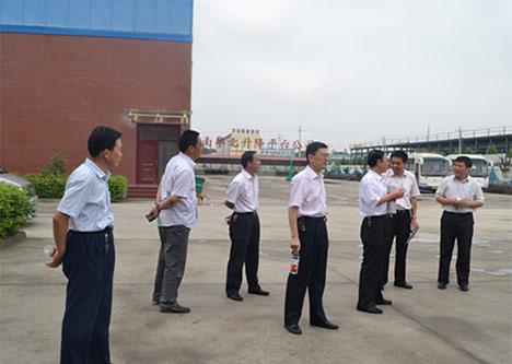 济阳县国税局崔寨分局王顺元局长等领导莅临公司指导调研
